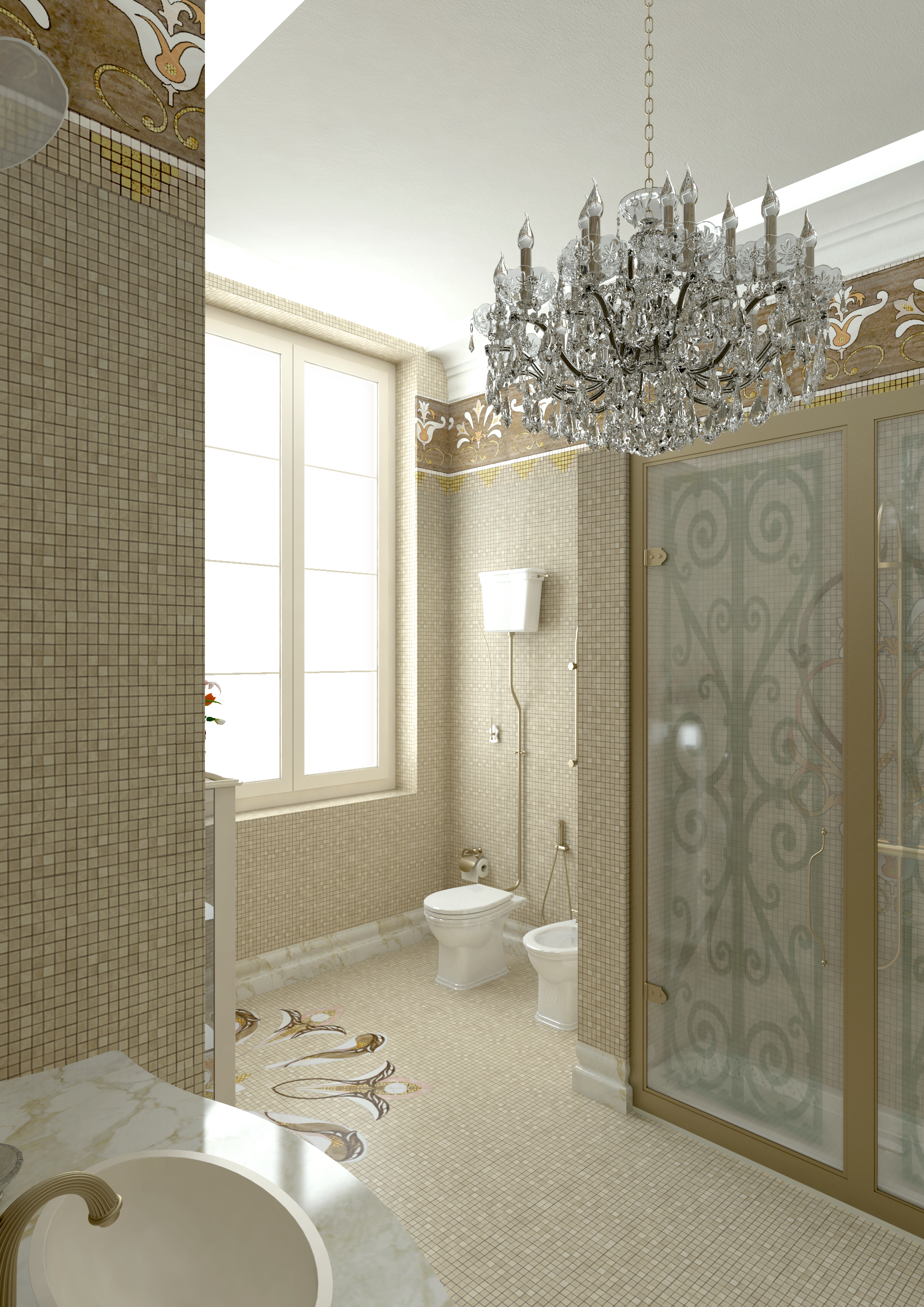 Bathroom T 10 Img001 Mosaico #Bathroom #Massimotrezziforniture Project By Massimo Trezzi Forniture