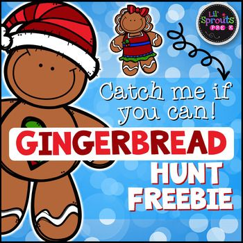 I Think My Favorite Activity Of The Year Is The Gingerbread Hunt I Do With My Kids Christmas Kindergarten Gingerbread Man Preschool Gingerbread Man Activities