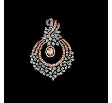 Rose gold with diamond pendant buy rose gold with diamond pendant rose gold with diamond pendant buy rose gold with diamond pendant online pendants on sale krishna pearls jewelry designs pinterest diamond aloadofball Images