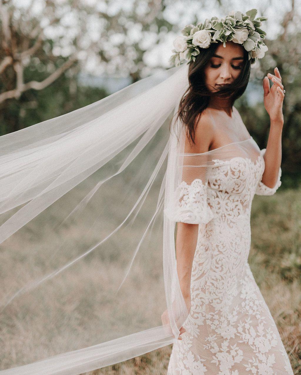 Beach Wedding Gown Liz Martinez Bridal Off The Shoulder