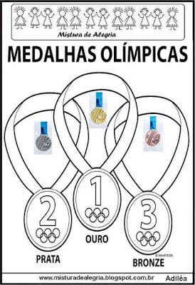 Atividades Com Medalhas Olimpicas Para Imprimir E Colorir