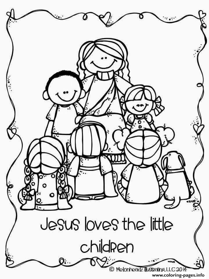 Print jesus loves the little children coloring pages ...