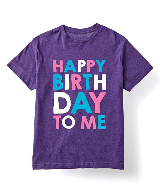 Purple Happy Birthday To Me Tee Boy Shirts