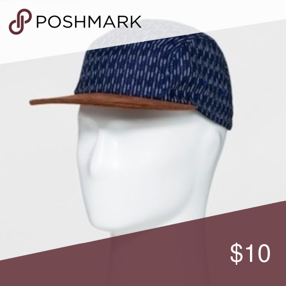a330d91c3d4e7 Men s Striped Curved Brim Baseball Hat Blue Denim Men s Striped Curved Brim  Baseball Hat - Goodfellow   Co Blue One Size Goodfellow  …