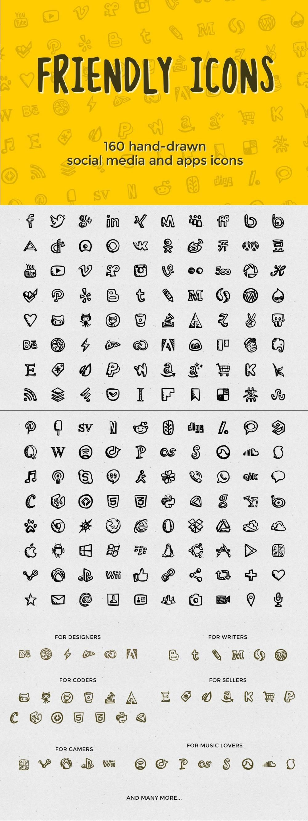 Friendly Icons 160 Social Icons Webopenfontformat Iconpack Iconset Vector Commerce Iconset Mobile Computer Cs6 In 2021 Social Icons Icon Pack Icon Collection