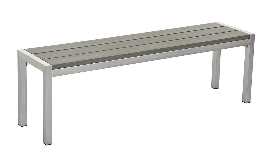Buy Wyndham Brushed Aluminium 3 Seat Dining Bench from our Garden ...