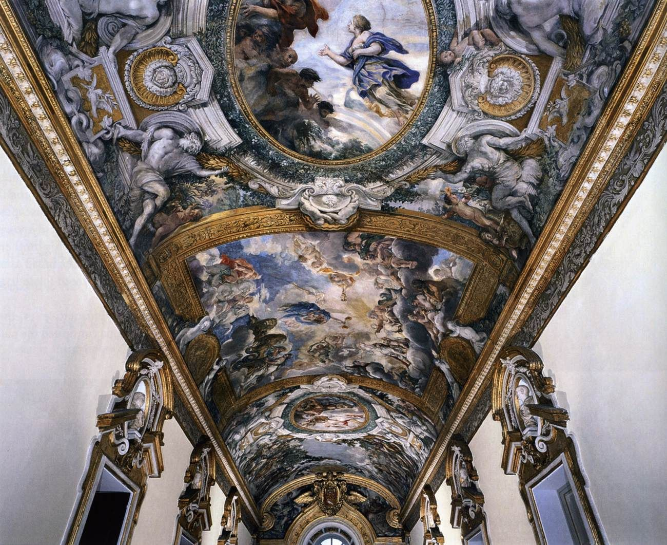 CORTONA, Pietro da Italian painter/architect, Roman school (b. 1596, Cortona, d. 1669, Roma)  Ceiling of the Galleria Pamphilj 1651-54 Fresco Palazzo Pamphilj, Rome
