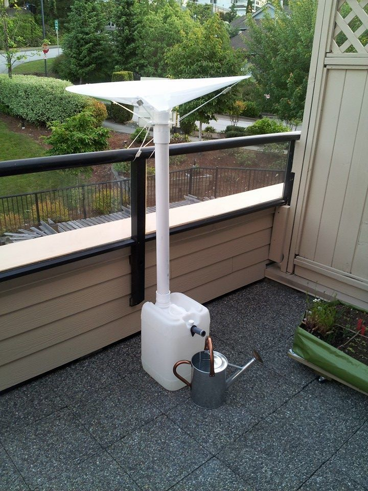 rainsaucer balcony rain water harvester prototype just