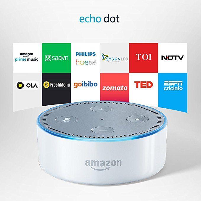 Echo Dot is a handsfree smart speaker that you control