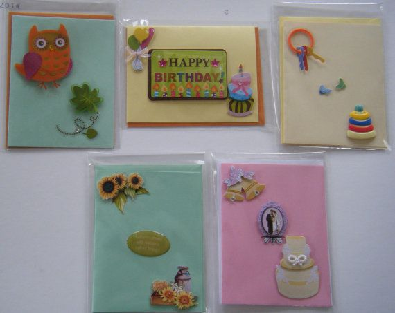 A 5 Pack of an Assortment of occasion and all by CraftsbyNAC, $12.00