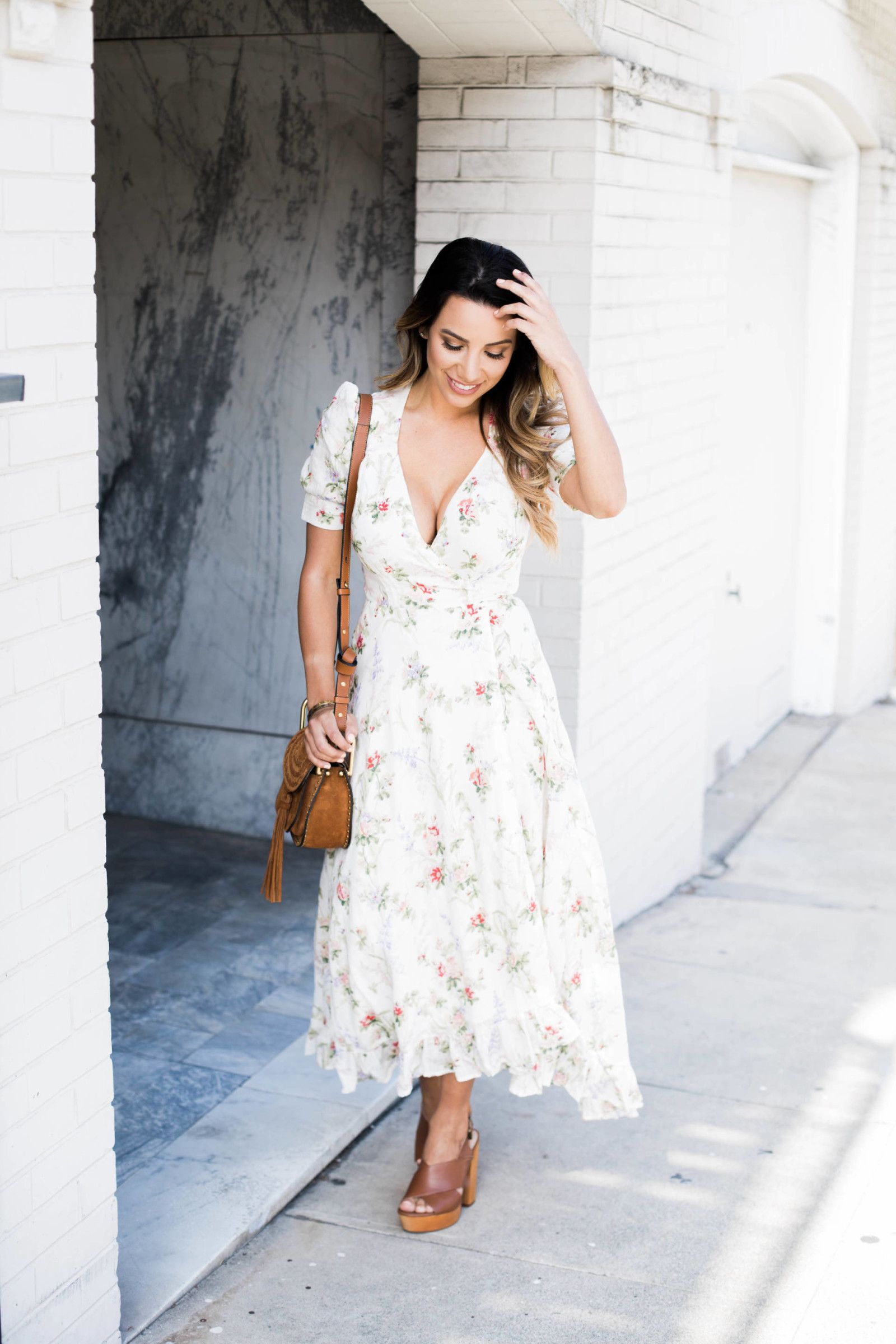 Ariana Lauren of #Fashionborn wearing dress: Denim & Supply Ralph Lauren, shoes: Seychelles, bag: Chloe