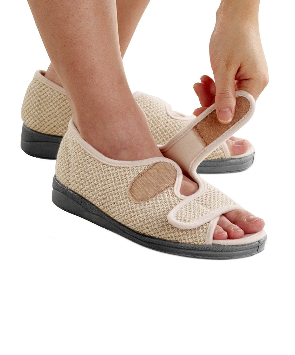 139d9a08e52d9 Amazon.com | Womens Comfortable Indoor/Outdoor Sandals with VELCRO ...