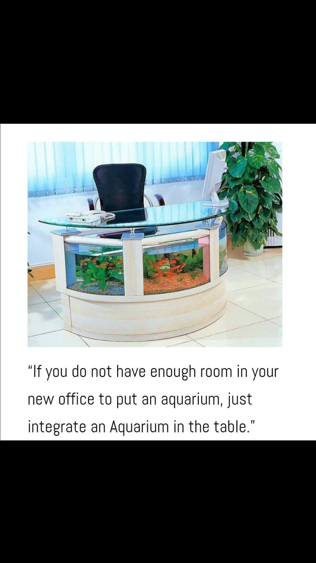 Office Table Aquarium