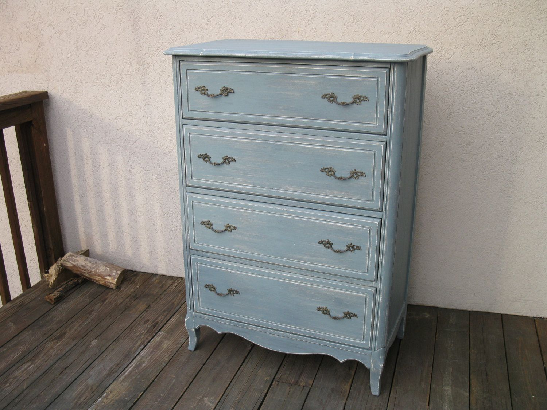 Chic And Shabby Blue Grey Tall Dresser Chest Of Drawers In Fishkill Shabby Chic Dresser Shabby Chic Shabby [ 1125 x 1500 Pixel ]