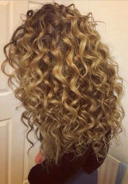 Pin By Amber Kayembe On Wavy Hair Long Hair Perm Permed Hairstyles Spiral Perm