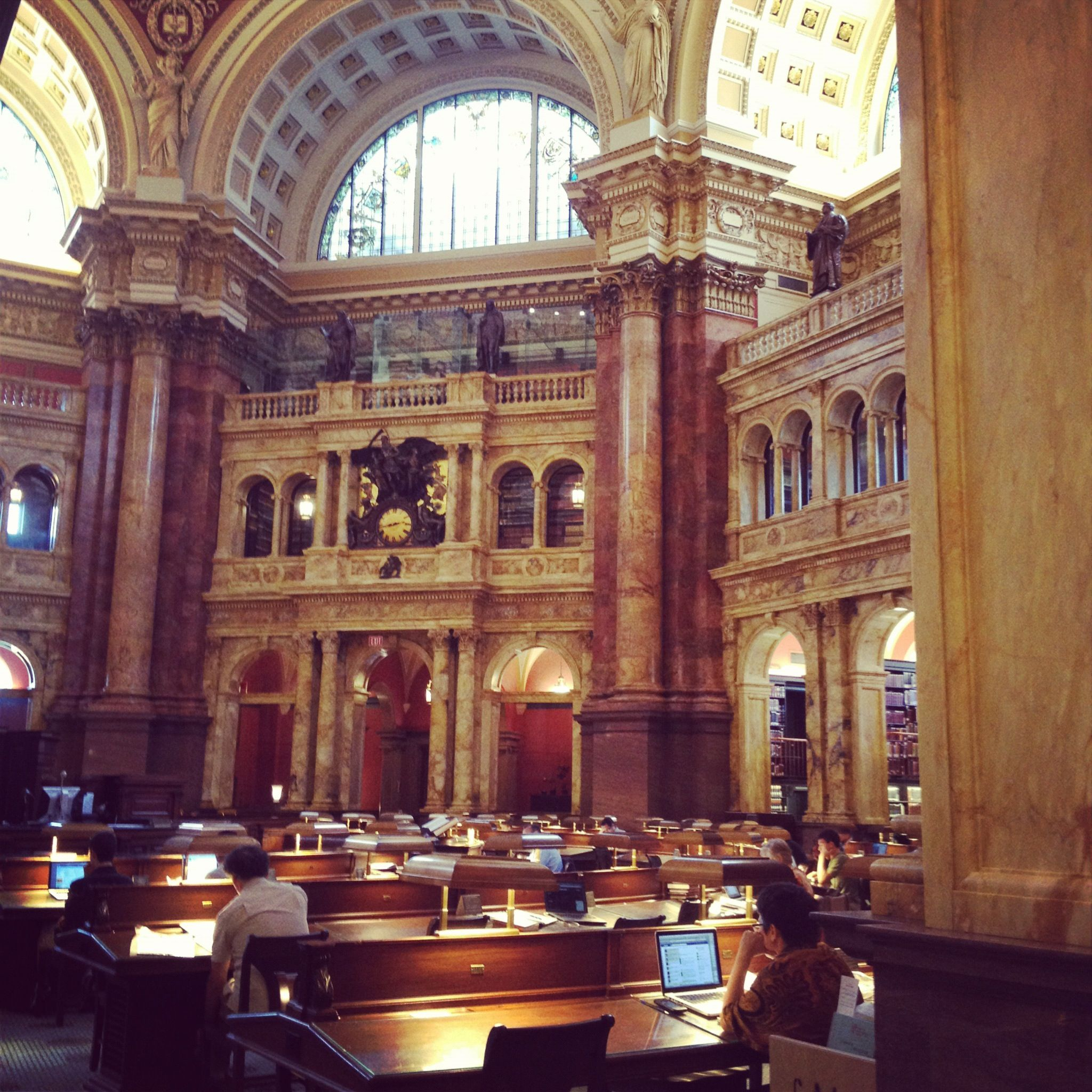 the library of congress main reading room.  Another favorite library.