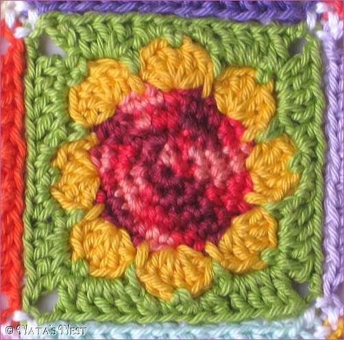 9 mini granny daisy colorido-foto