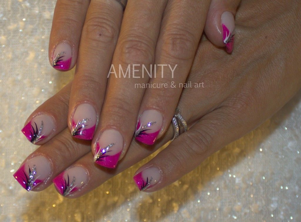 U-french-pink-freihand-schwarz-weiß-dekomalerei-1024x755.jpg 1.024 ...