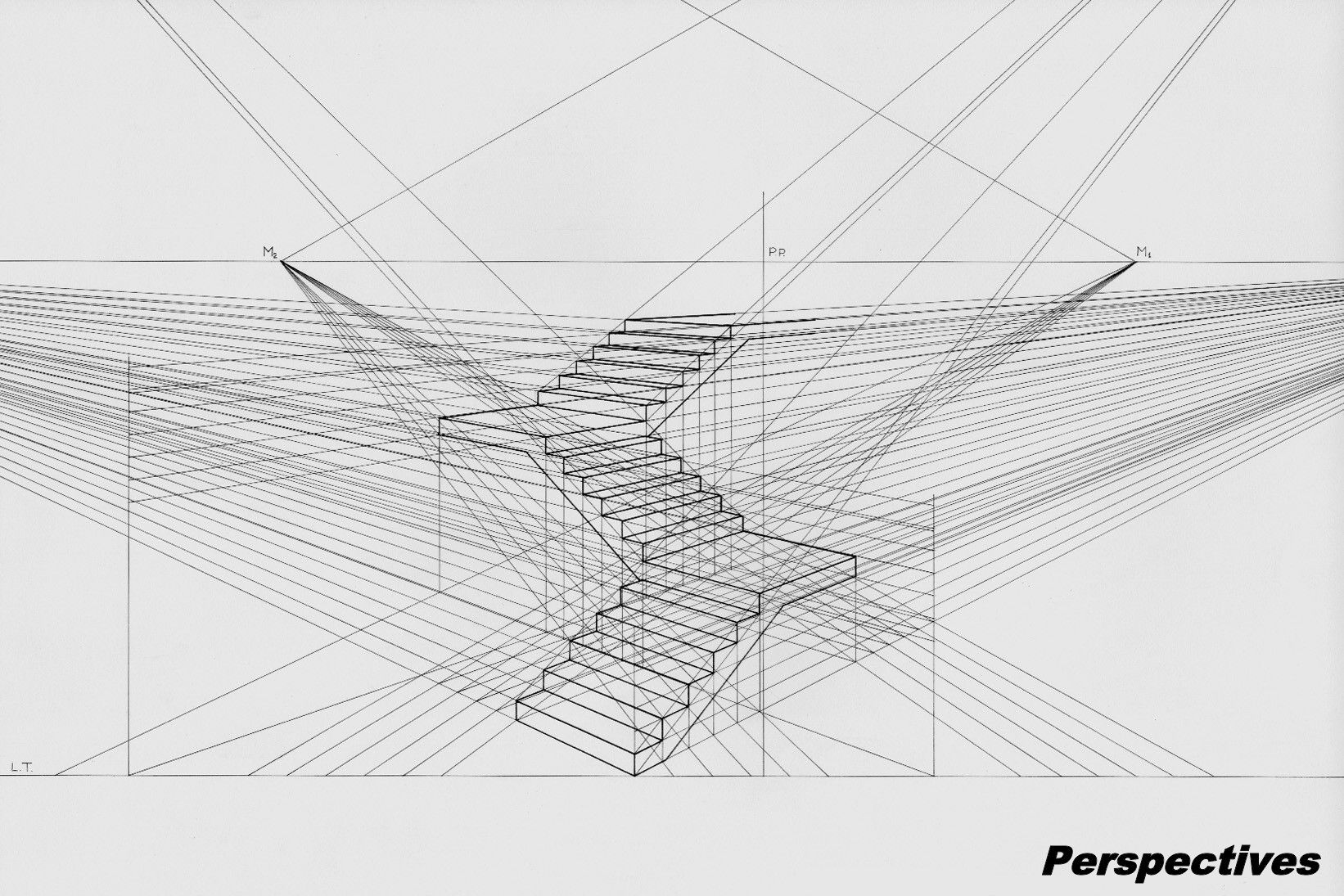 Line Drawing Net : Three point perspective .i thought that there are only one
