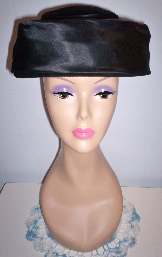 Adjustable Vintage Women's Black Clamp Style Lampshade Picture Hat Size 21-22  | eBay