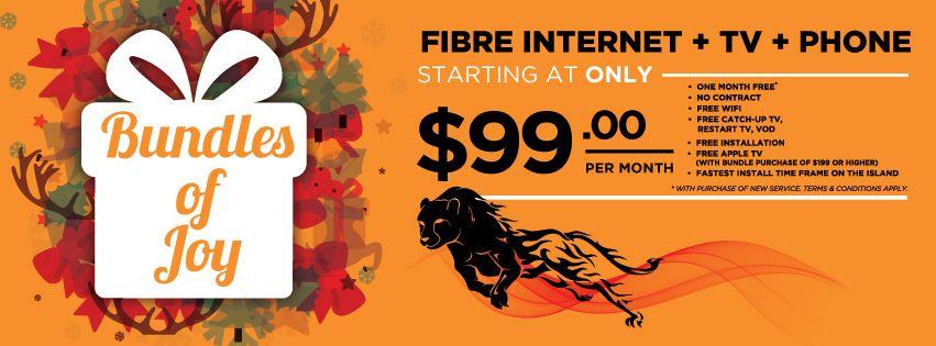 Bundles Of Joy! Get Logic Fibre internet + TV + Phone, with