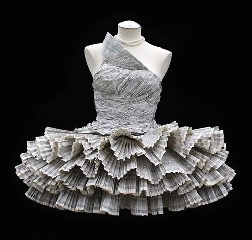 RACHEL GOODCHILD - RECYCLE: RECYCLED DRESSES made from phone books