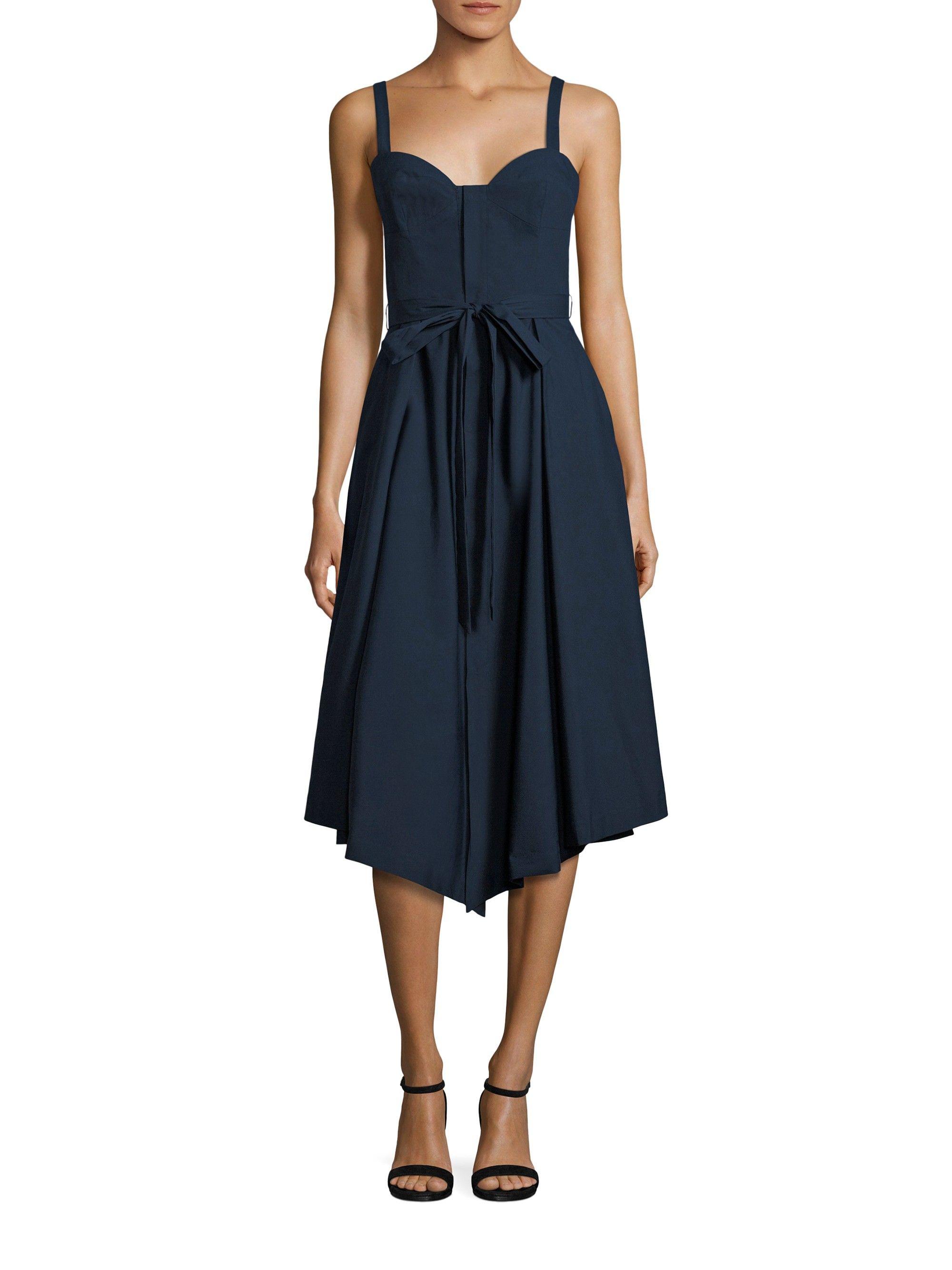 Bustier Midi Dress, Navy | Midi dresses, Navy and Shopping