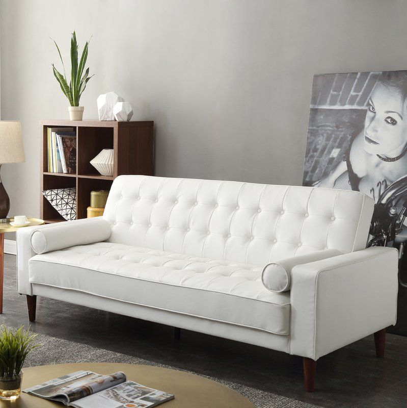 Shayne 82 Square Arms Sofa Leather Couches Living Room White Leather Sofas Convertible Sofa