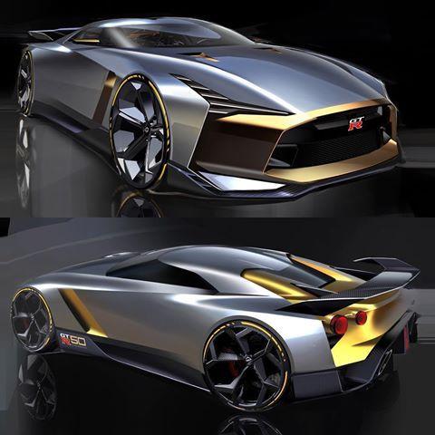 Nissan Gtr50 Official Sketches Car Design Sketch Automobile