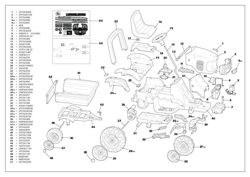 John Deere RX75 Parts Manual   parts schematic and parts