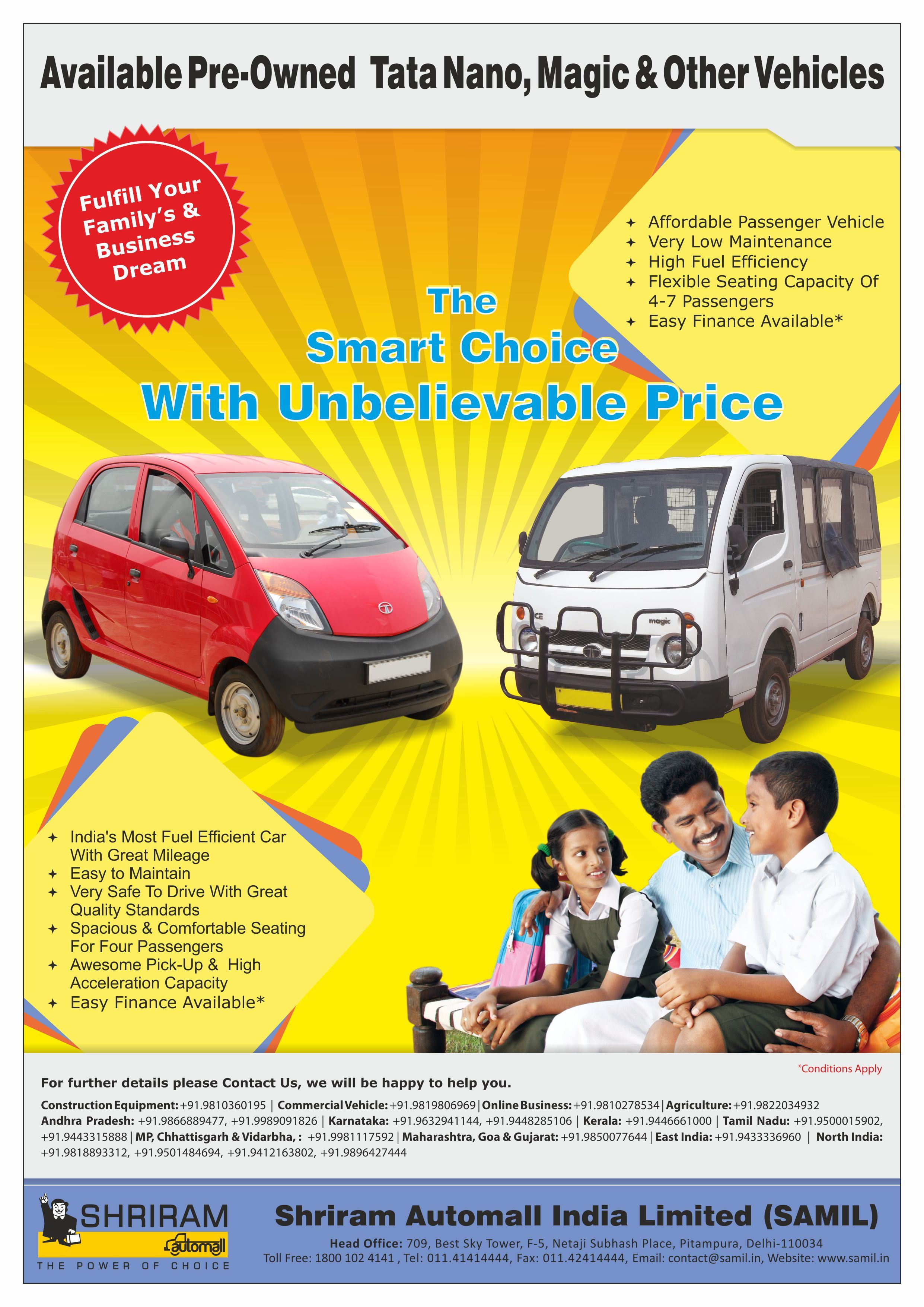 Find Good Condition Well Maintained Second Hand Tata Nano Cars