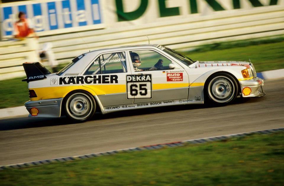 Michael Schumacher And The Dtm Mercedes Benz 190e Mercedes Benz