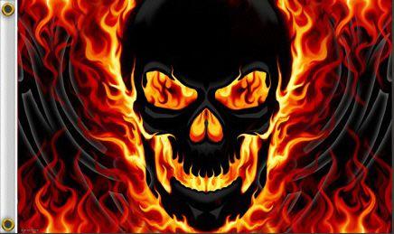 Cool Flaming Skull Pics Picturespider Com Skull Art Skull