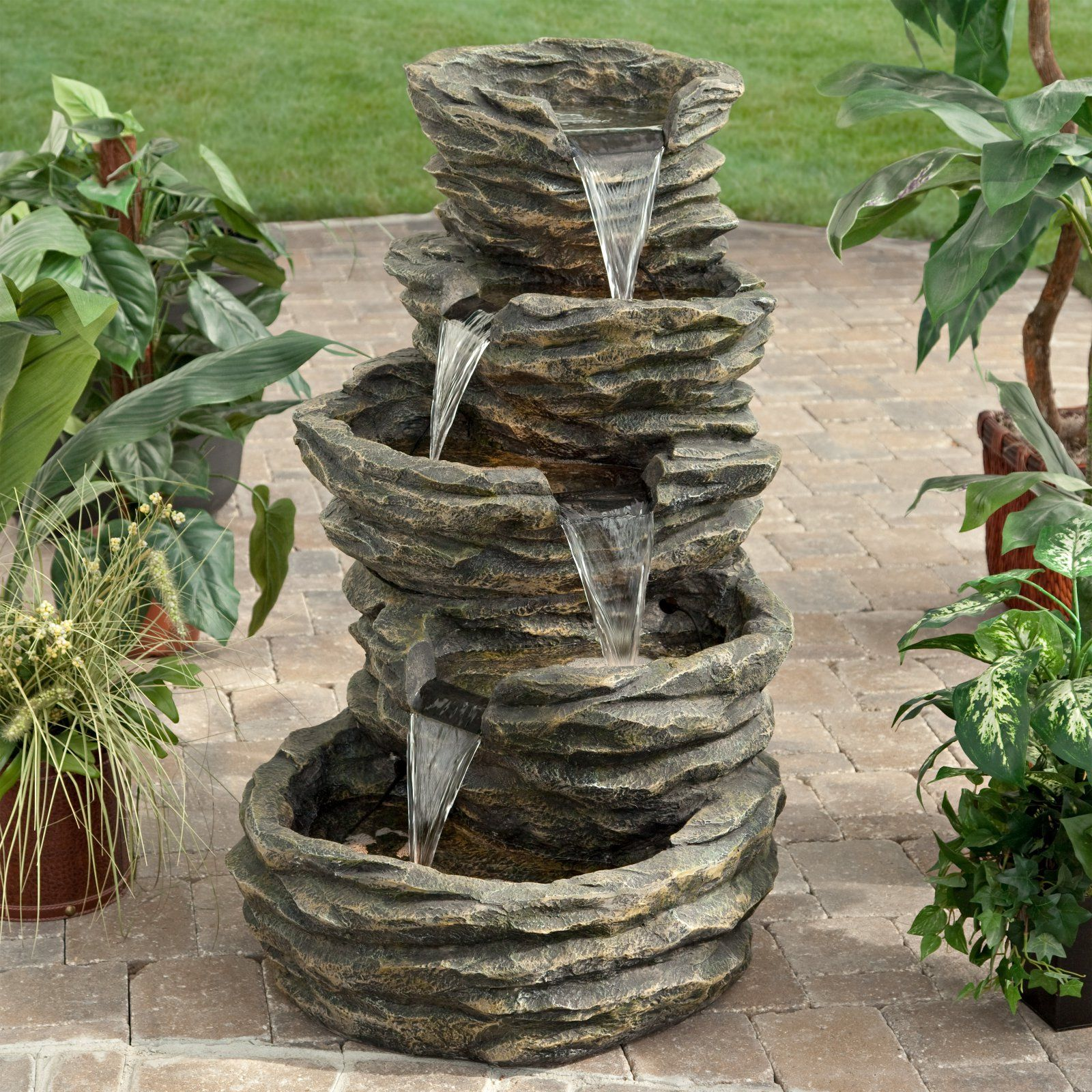 Patio Garden In 2020 Waterfalls Backyard Fountains Outdoor