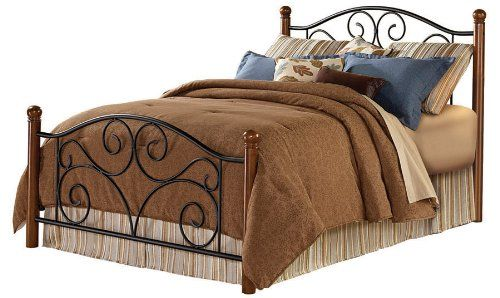 $215 Fashion Bed Group Doral Full Size Bed in Matte Black/Walnut ...