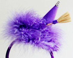 Tiara chapéu de bruxa  9962f59a9db