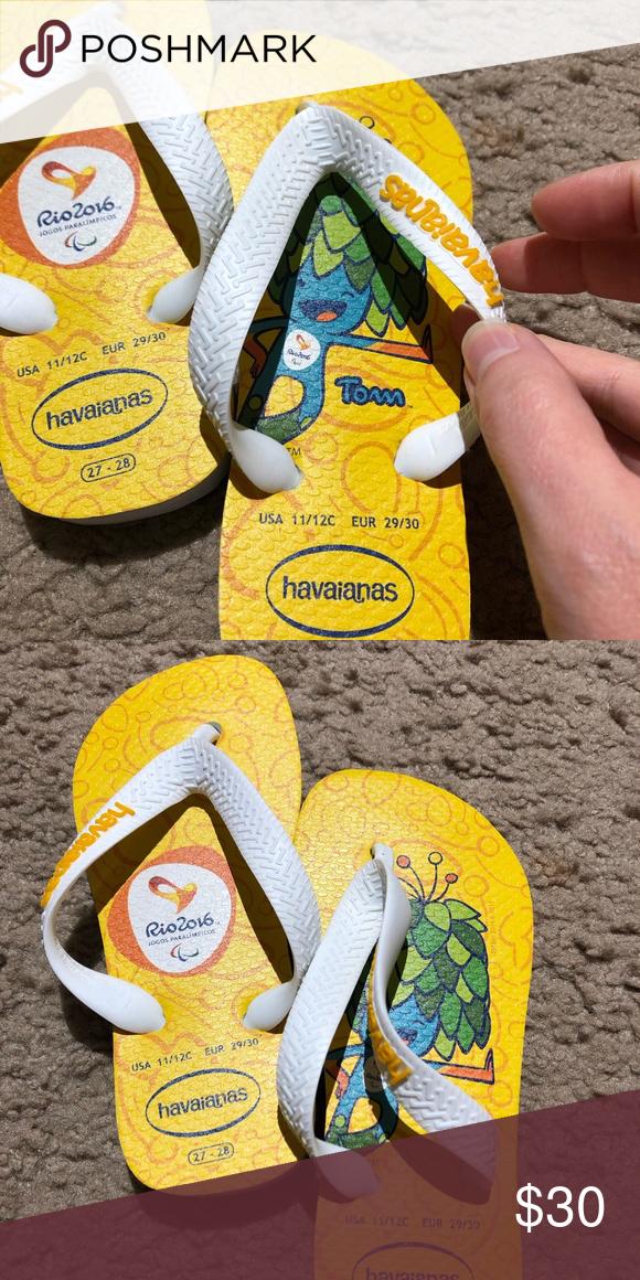 833f1efc3cb Havaianas Rio Olympics 2016 kids flip flops Havaianas brand Rio 2016 Olympic  flip flops