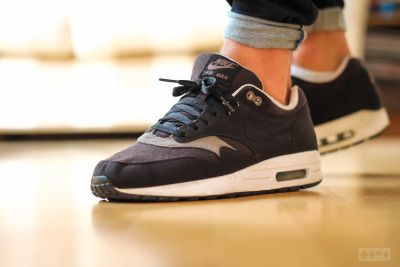 new products 2219d 39aea Nike Shoes · Sneakers, kicks and trainers. On feet. Air Max 1 Black, Buy  Sneakers