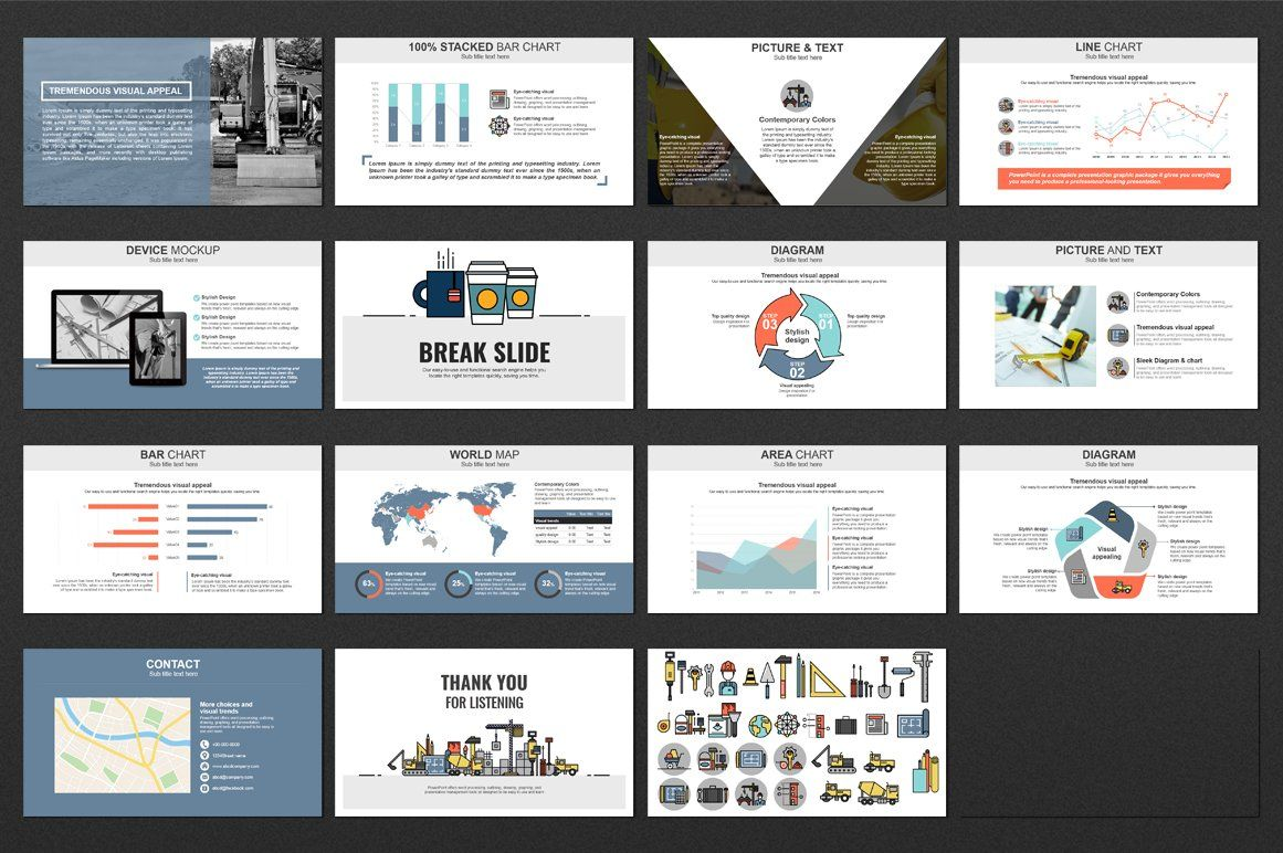 Construction Engineering Ppt Template Design Ppt Powerpoint Templates