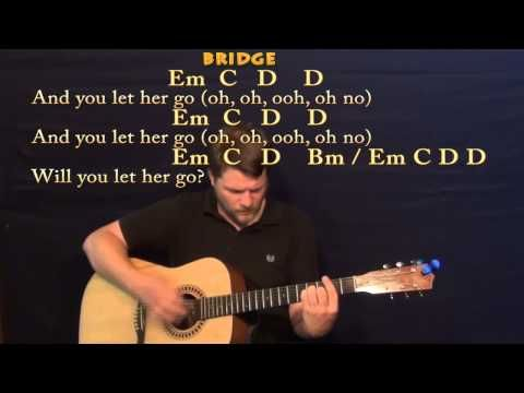 Let Her Go (Passenger) Strum Guitar Cover Lesson with Chords ...