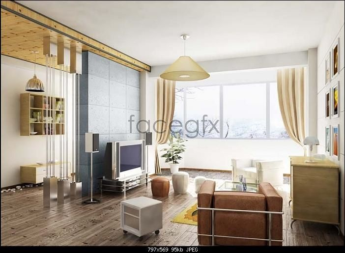 Simple And Small Living Room 3d Model Small Living Room Living Room 3ds Max 3d Living Room Small family room model with