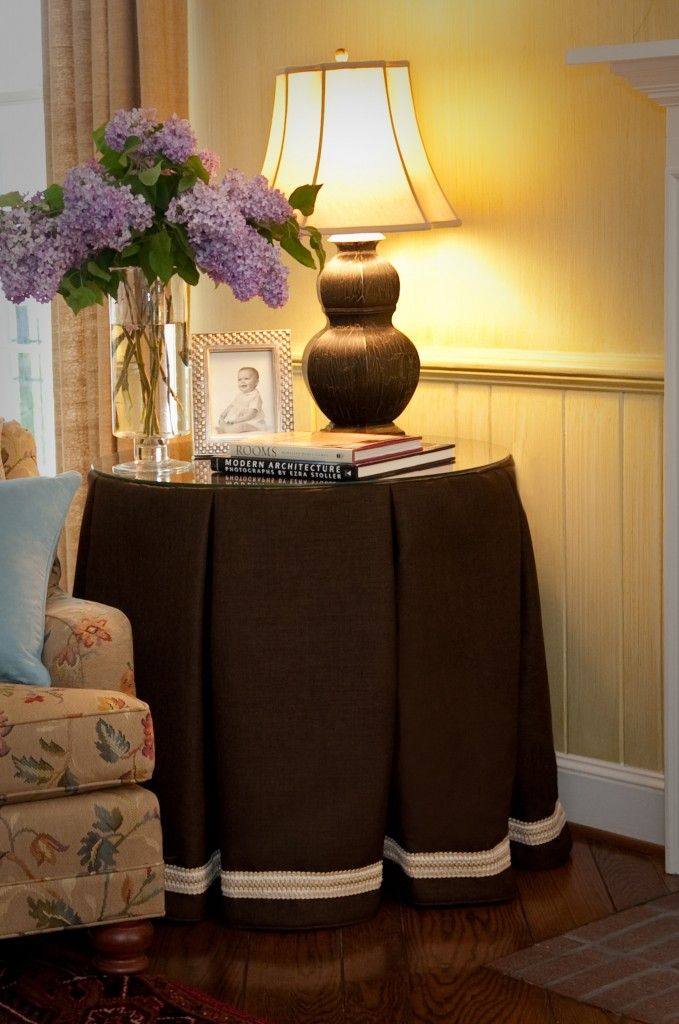 Side Table Skirt For The Home Pinterest Tables Room