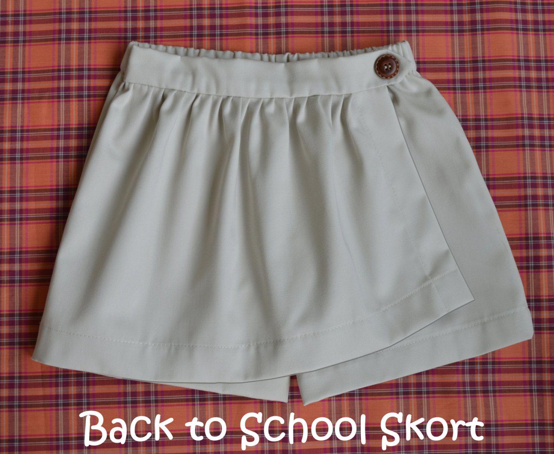 Twist & Shout - Girl\'s Skort Pattern PDF. Girl Sewing Pattern. PDF ...