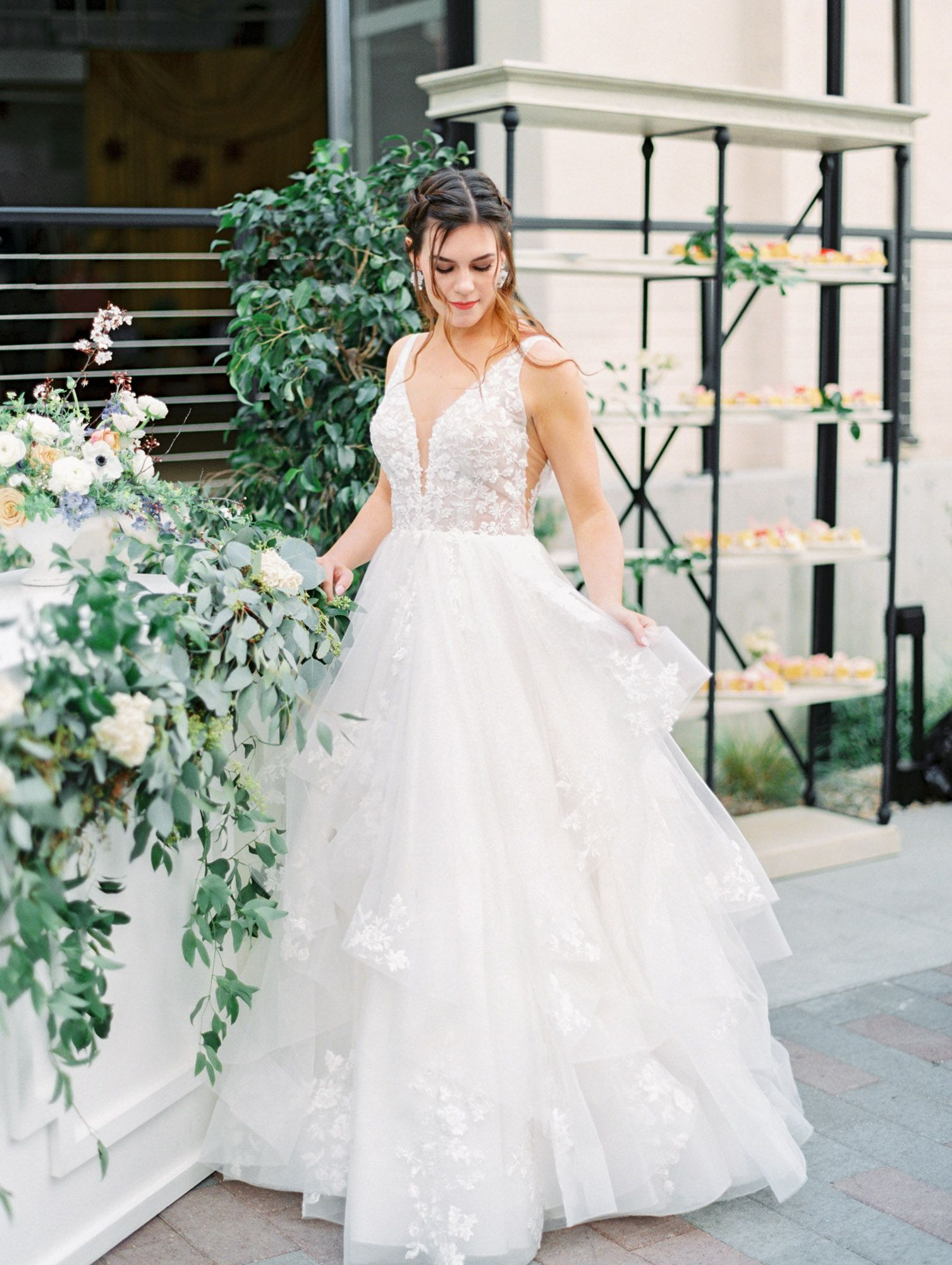 Wedding Dress At Here Comes The Bride In San Diego California Beautiful Wedding Dresses And Bridal Gow Boho Chic Wedding Dress Bridal Dresses Wedding Dresses