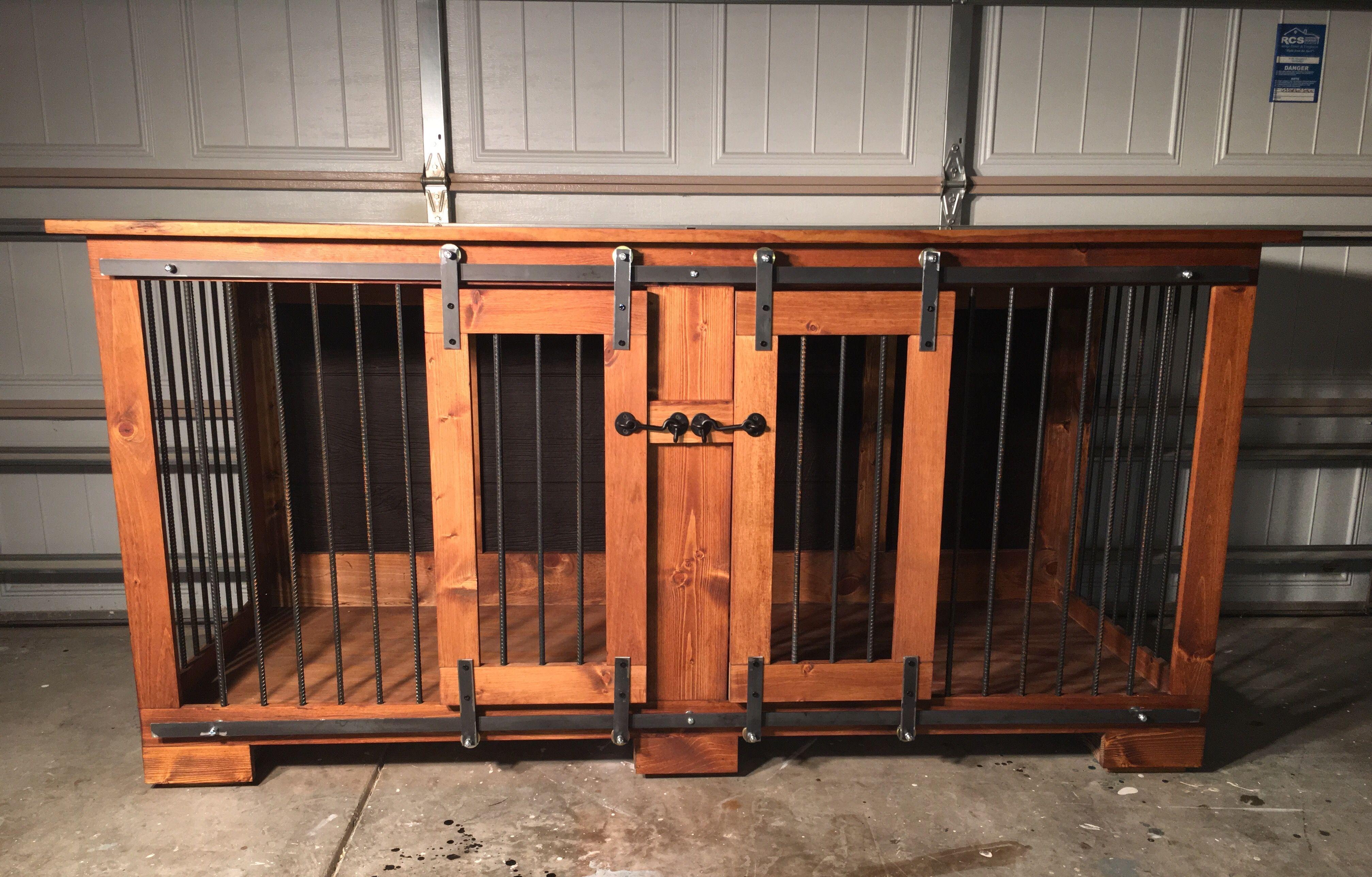 KK Custom Crates Charlotte NC Dog Furniture #dogcrate #dogkennel  #dogfurniture
