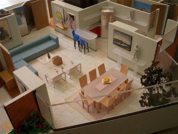 Maqueta de apartamento modelo maquetasquevedo for Cursos de decoracion de interiores en montevideo