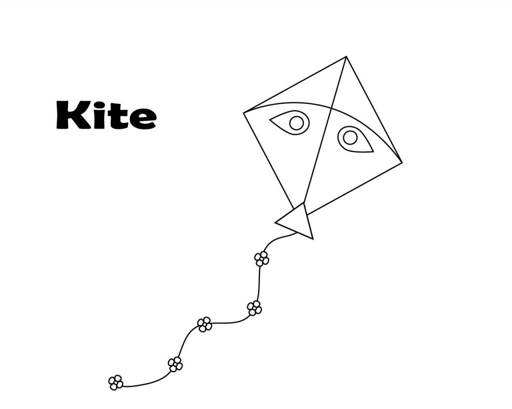 - Free Kite Coloring Pages Coloring Pages For Kids, Coloring Pages
