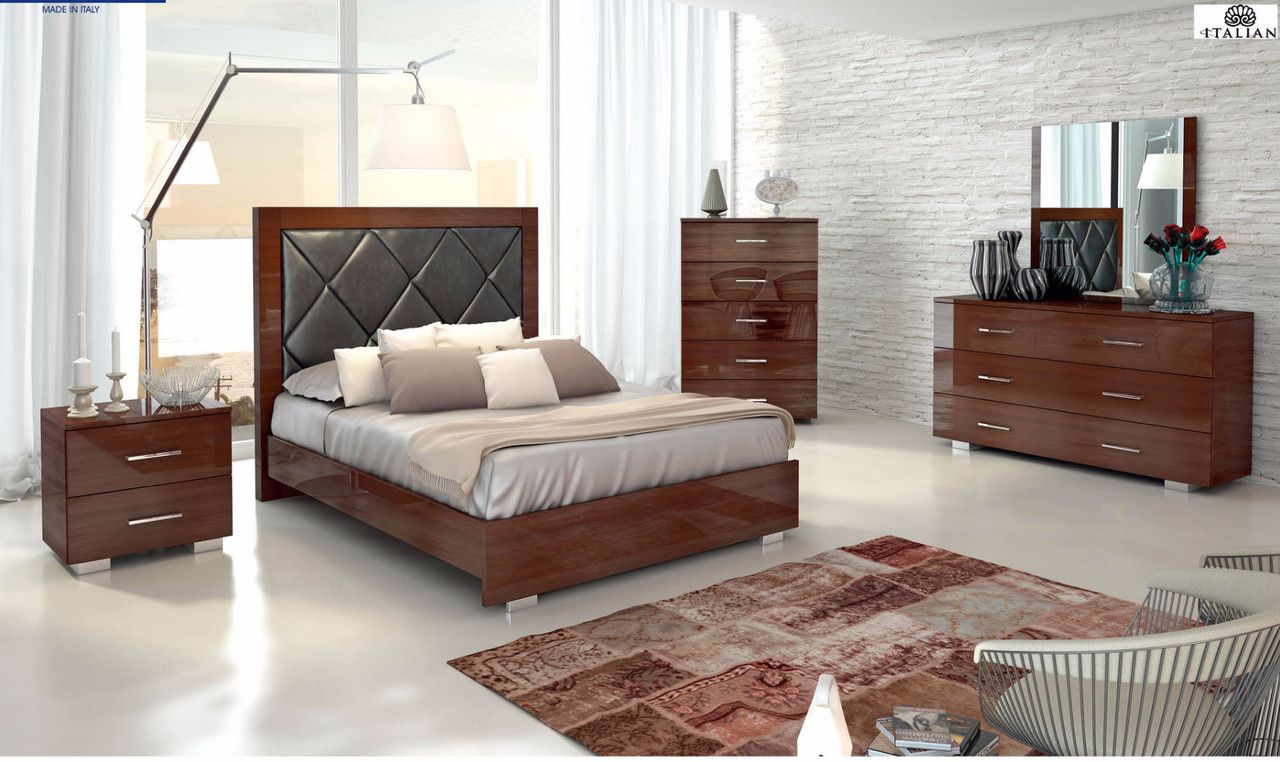 Esf Furniture Antonelli King Size Bed With Images Furniture
