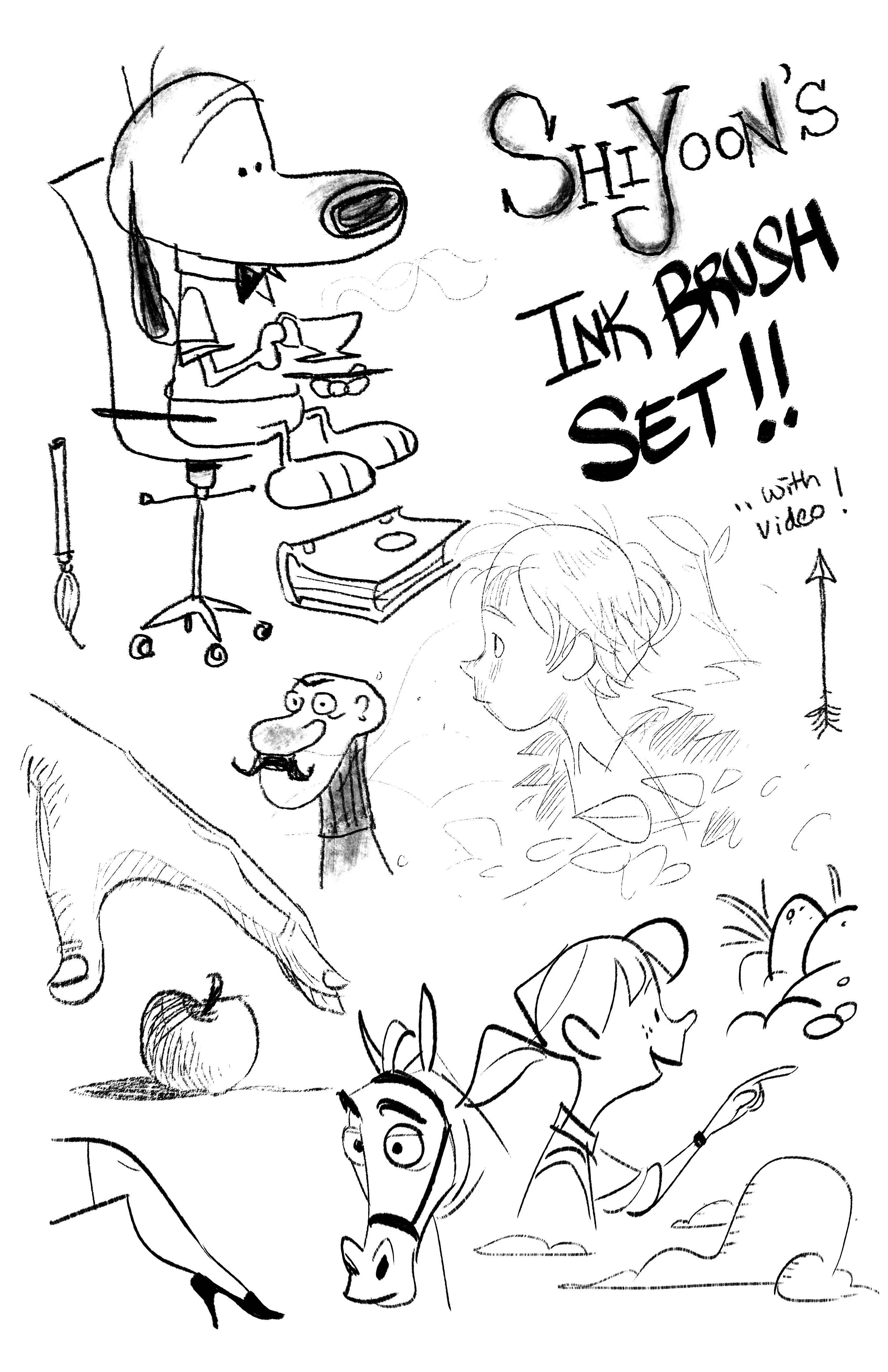 Shiyoon's Ink Brush Set brushes