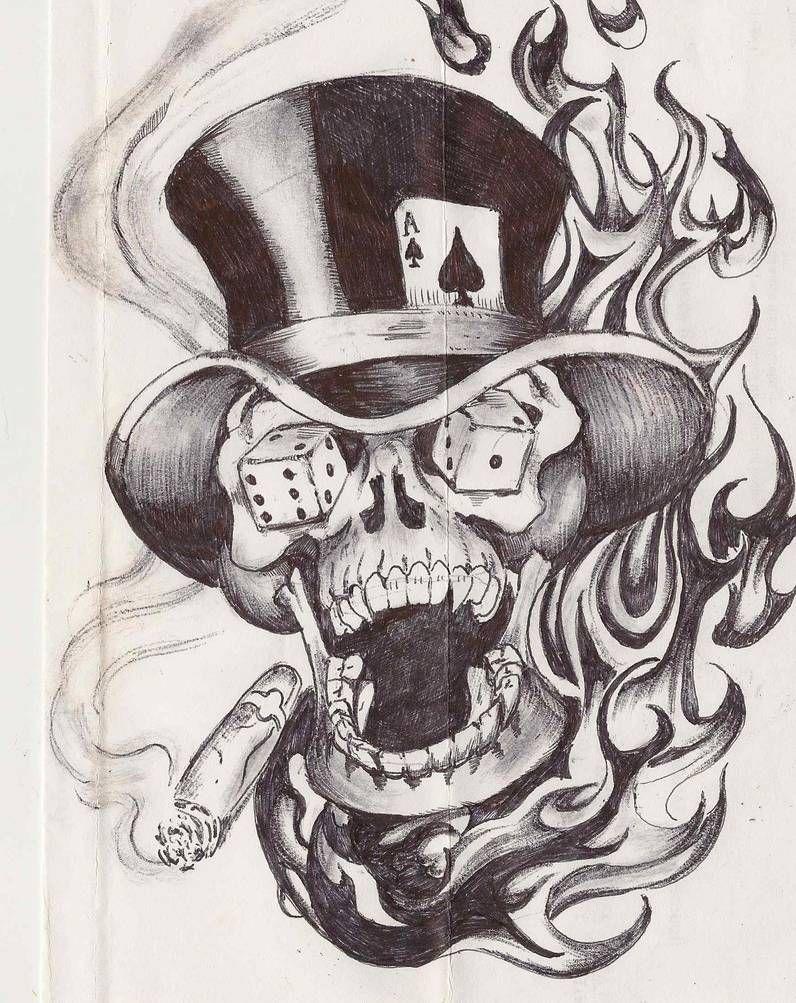 Flash Skull By Randyparker1972 On Deviantart In 2020 Skull Tattoo Design Cross Stitch Tattoo Stitch Tattoo